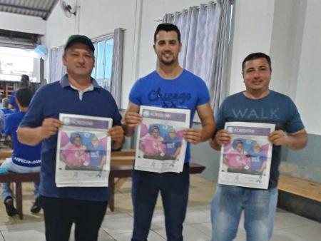 Vereadores Renato Vargas (PTB), Rafael Costa (PSDB) e Marcelo Machado (PP).