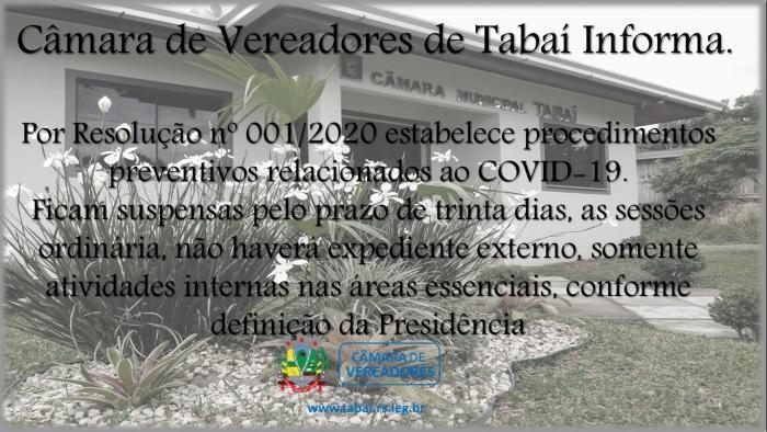 CÂMARA DE VEREADORES DE TABAÍ INFORMA.